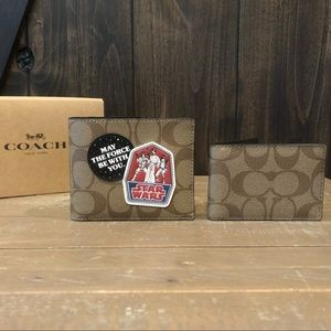 NWT Authentic Star Wars X Coach 3in1 Wallet